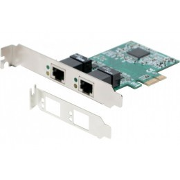 Dexlan Carte PCIie 1x Dual RJ-45 Gigabit + Low Profile