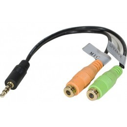 Adaptateur jack 3,5mm 3PTS vers micro & casque stereo PC99