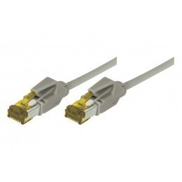 Cordon patch RJ45 S/FTP CAT 6a LSOH Snagless Gris 0,50 mètre