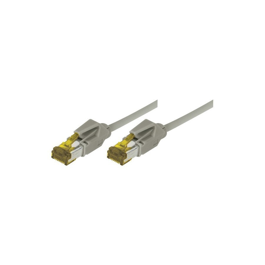 Cordon patch RJ45 S/FTP categorie 6a LSOH Snagless Gris 25 mètres