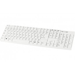 Clavier standard USB blanc 105 touches AZERTY fr