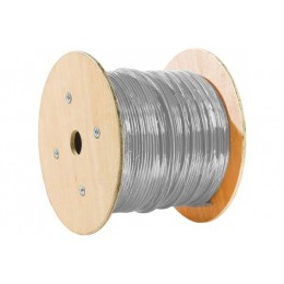 Cable multibrins blinde F/UTP Categorie 5e gris touret de 500 metres