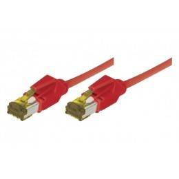 Cordon patch RJ45 S/FTP CAT 6a LSOH Snagless Rouge 0,50 mètre