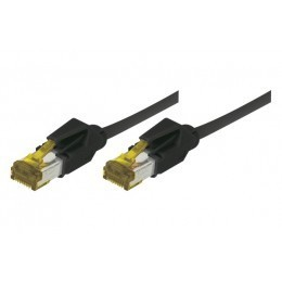 Cordon patch RJ45 S/FTP CAT 6a LSOH Snagless Noir 0,50 mètre