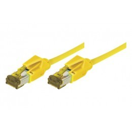 Cordon patch RJ45 S/FTP CAT 6a LSOH Snagless Jaune 1 mètre