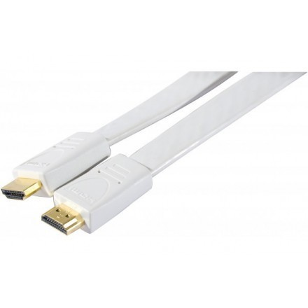 Cordon hdmi high speed plat blanc- 3m