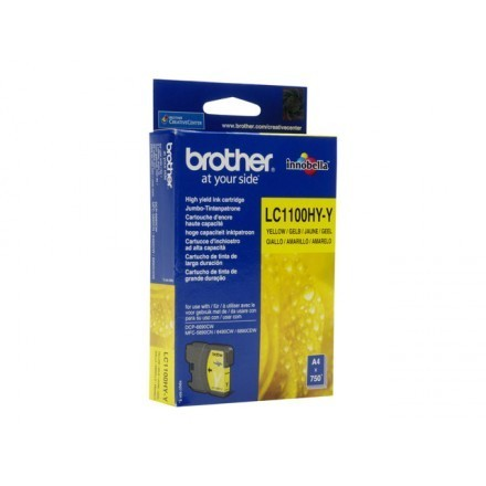 Cartouche d'encre original Brother LC1100HYY jaune
