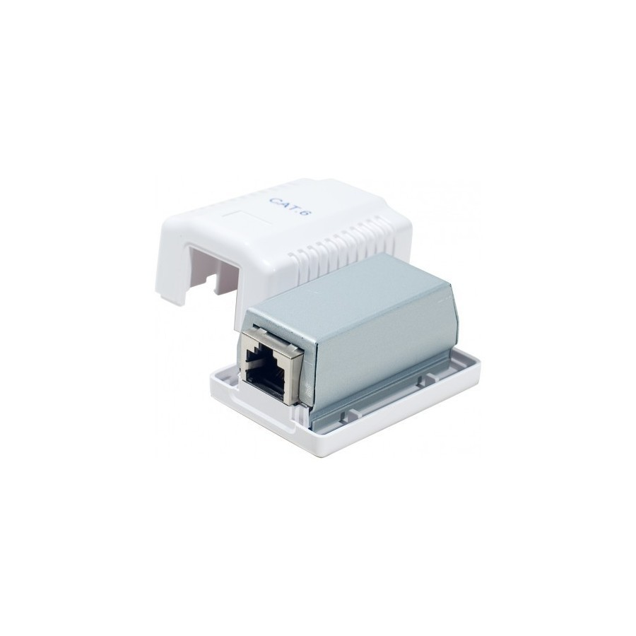 DEXLAN Boitier mural Cat6 contact CAD - 1 port RJ45 blindé