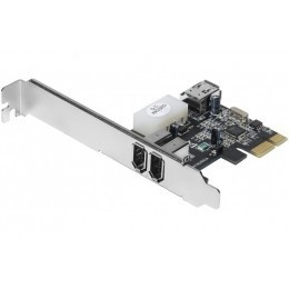 Carte PCI-Express FireWire 400 1394a 2+1 port