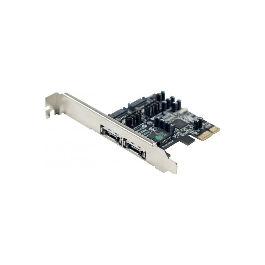 Carte SATA II PCI-Express 2 canaux 4 ports int./ext.