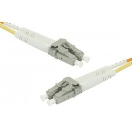 Cordon fibre optique LC/LC 62,5/125 - 1m