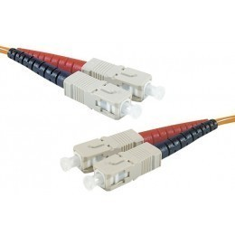 Cordon fibre optique SC/SC 50/125 - 5.00 m