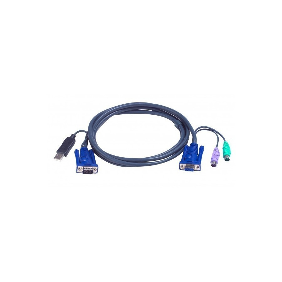 Cable U7 kvm ATEN 2L-5502UP VGA-USB-PS2 - 1,80M
