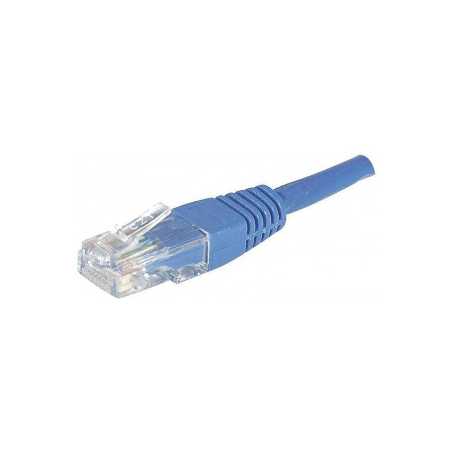 CORDON PATCH RJ45 U/UTP CAT5e Bleu - 20 M