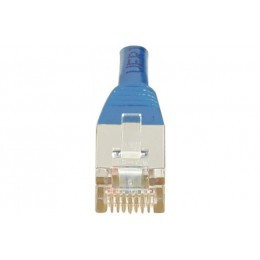 Cordon patch RJ45 F/UTP CAT6 bleu - 0,15m