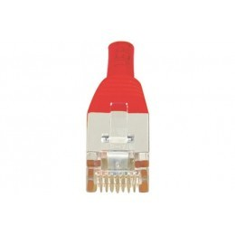 Cordon patch RJ45 F/UTP CAT6 rouge - 0,3m
