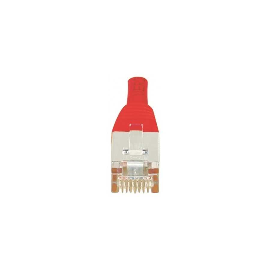 Cordon patch RJ45 F/UTP CAT6 rouge - 3m