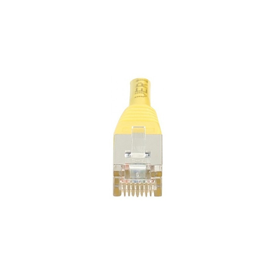 Cordon patch RJ45 F/UTP CAT6 jaune - 15m