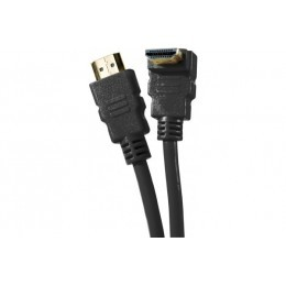 Cordon hdmi highspeed ethernet brassage - coude  noir 1m
