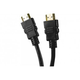 Cordon hdmi highspeed ethernet brassage droit - noir 0,50m