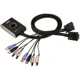 Aten CS682 mini switch KVM in cable 2 ports DVI/USB+Audio