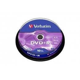 Spindle de 10 DVD+R 4,7GB 16x Verbatim