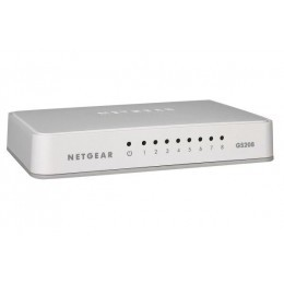 Netgear GS208 switch 8 ports 10/100/1000 plastique
