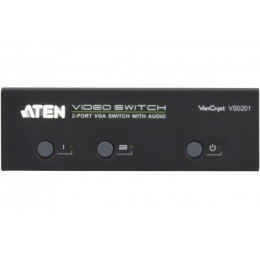 Commutateur 2 PORTS vga + audio+ RS232 aten VS0201 300MHz