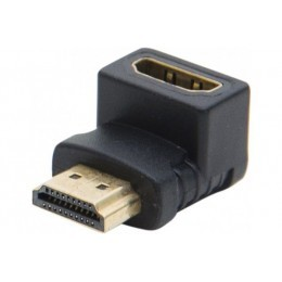 Adaptateur hdmi or m/f coude 90°