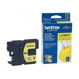 Cartouche d'impression original Brother LC980Y Jaune