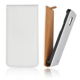 Etui Slim iPhone 5 Vertical blanc