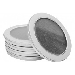 Pack 5 boitiers metal rond